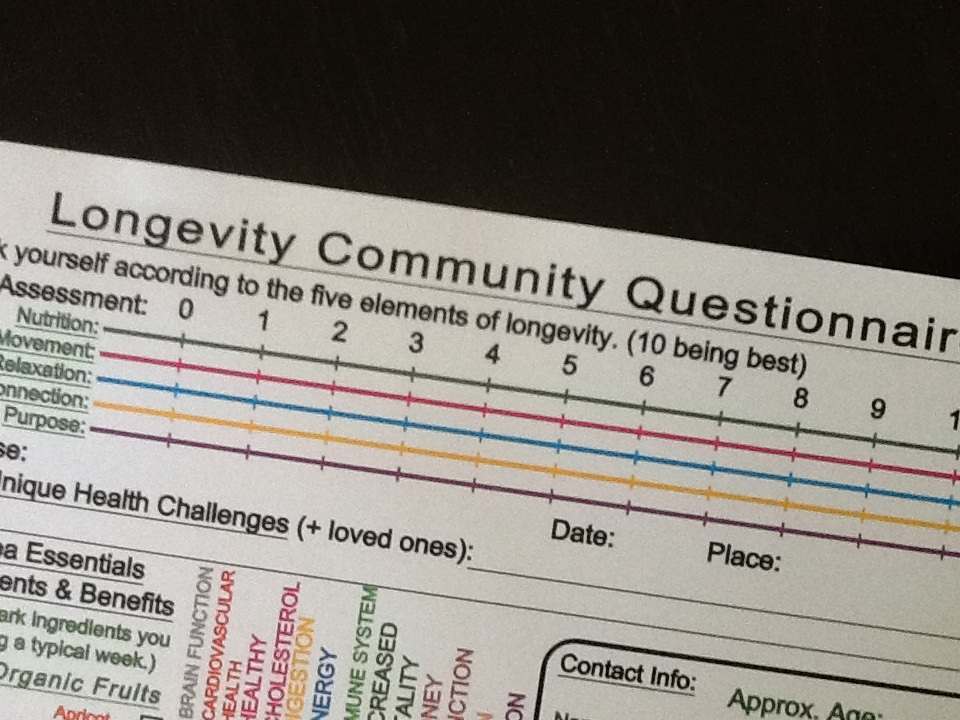 Longevity Community Questionnaire